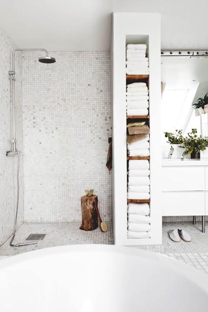 pour ranger les serviettes de bain