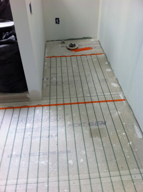 warm up your bathroom with heated floors