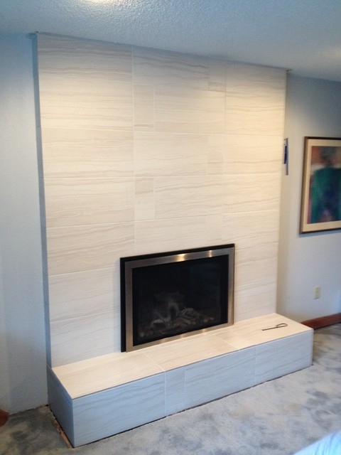 Removing Gas Fireplace Insert 1970's Fireplace Remodel - Transitional - Seattle - By