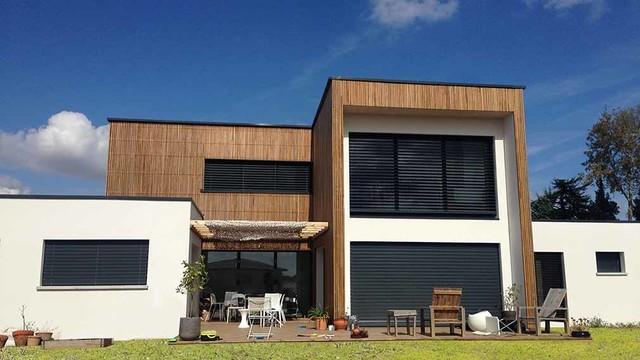 Modele Facade Maison Moderne. Cool Maison Moderne Toit Plat Cap De ...