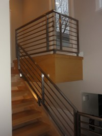 Stainless steel railings - Contemporary - Staircase ...