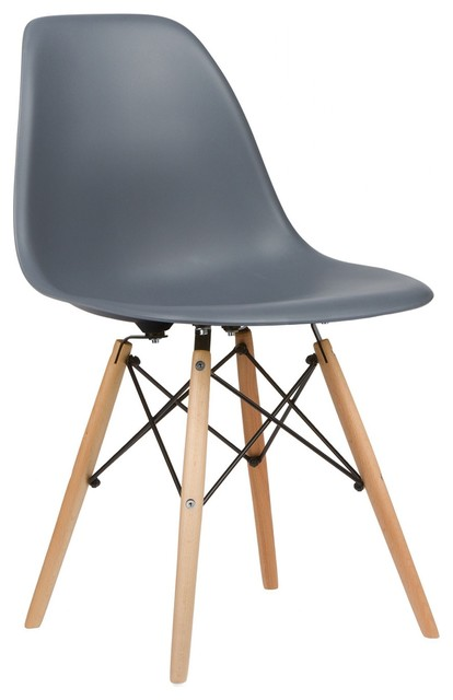 eames style plastic chair bouncy baby dsw accent side natural legs set of 2 midcentury dining chairs by poly bark