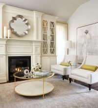 Modern Neutral Living Room with Gold Accents - Traditional ...