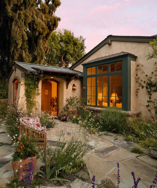Garden Cottage Mediterranean Exterior Santa Barbara