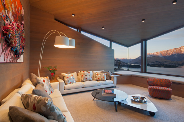 Copper House  Queenstown  Contemporary  Living Room
