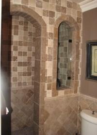 Tub to Shower Conversion - Mediterranean - Bathroom - Los ...