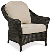 cottage wicker outdoor club chair