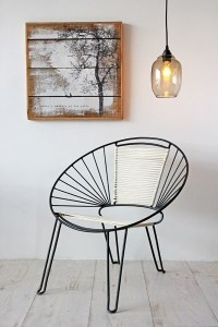 Mid Century Modern Style Chair - Black White - Midcentury ...