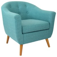 Shop Houzz | LumiSource Rockwell Chair, Teal - Armchairs ...