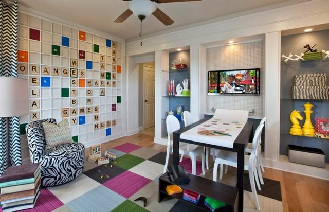 Scrabble Playroom  Modern  Kids  Orlando  by