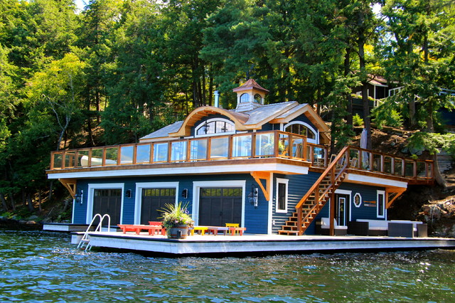 Boathouse Port Carling Ontario Canada Beach Style Exterior
