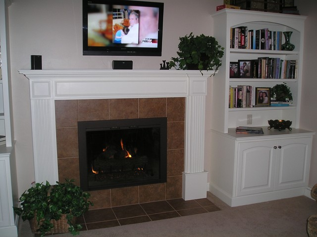 Before and After Fireplace Remodel  Traditional  Living Room  Grand Rapids  by DeHaan