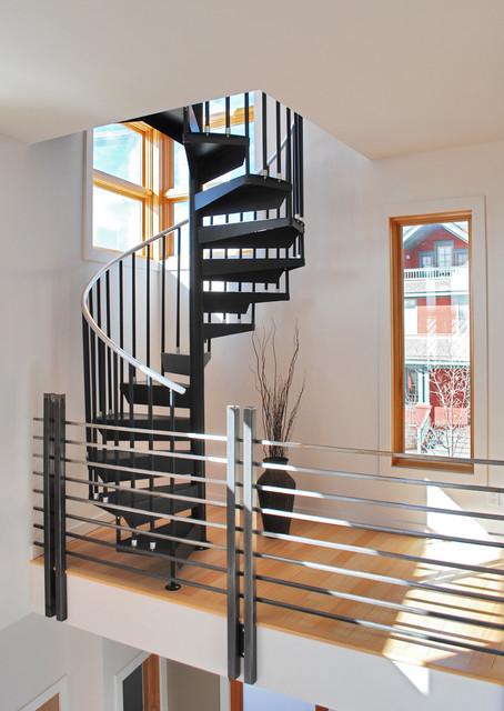 Prospect Courtyard Duplex  Modern  Staircase  Denver