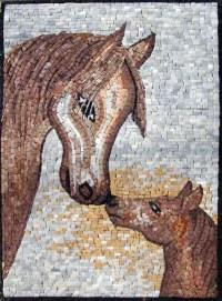Contemporary Horses Mosaic Mural