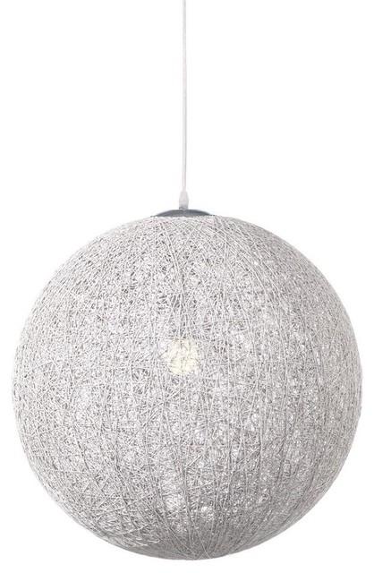 Round Pendant Lamp White Contemporary Lighting