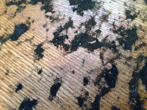 How to remove residue from under carpet from hw floors