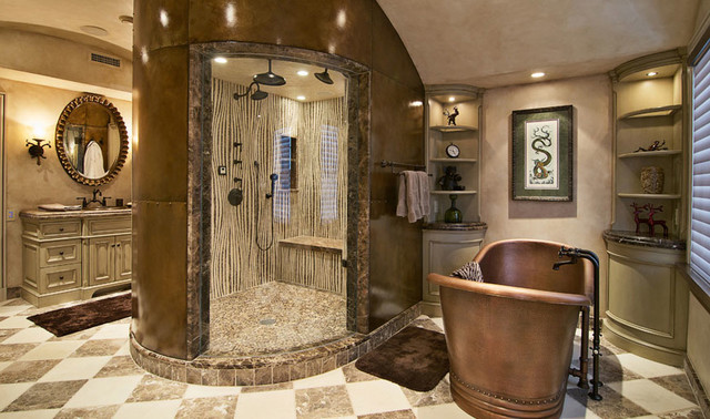 Bamboo mosaic shower wall  Francois  Co  Eclectic