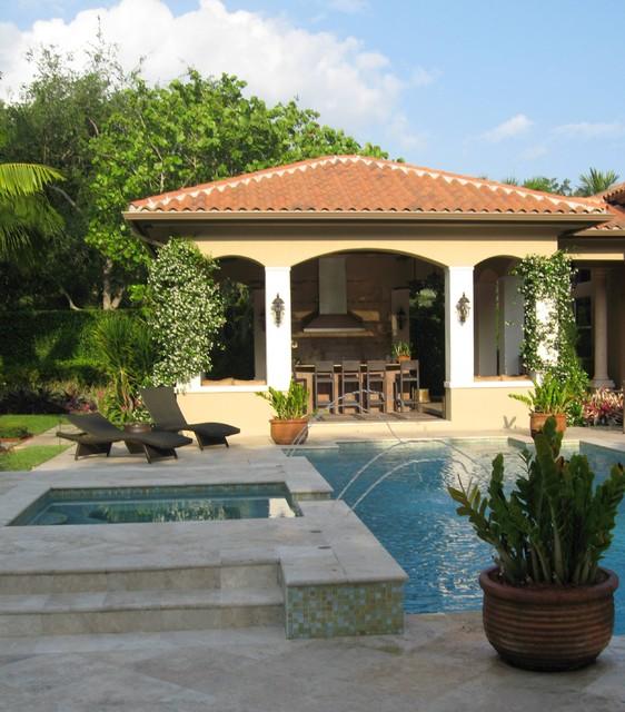 south florida garden. - mediterranean