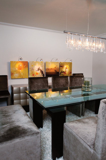 plastic kids table and chairs lorell executive mesh office chair modern glam - dining room atlanta by burns century interior design