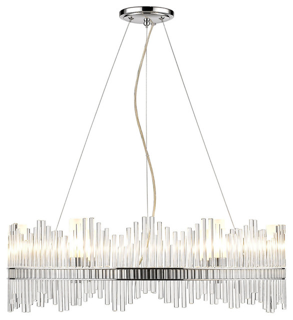 Luciano 6 Light Chandelier Chrome Contemporary Chandeliers