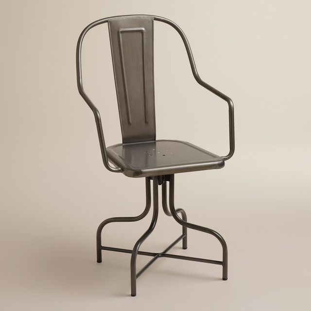 cost plus world market chairs bubble chair swing stand celia metal swivel industrial office by