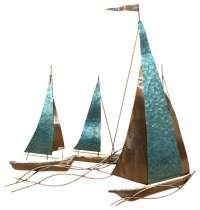 Stratton Home Decor Sailboat Wall Decor - Metal Wall Art ...