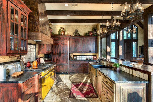 Indian Lakes Mountain Lodge Style  Rustic  Kitchen
