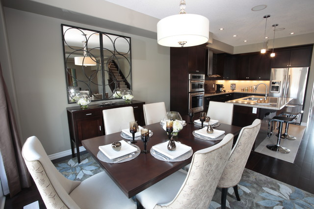 Model Home Kitchen And Dining Room Modern Dining Room