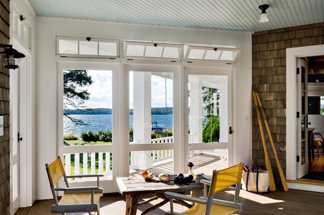 Three Season Porch  Beach Style  Porch  Portland Maine