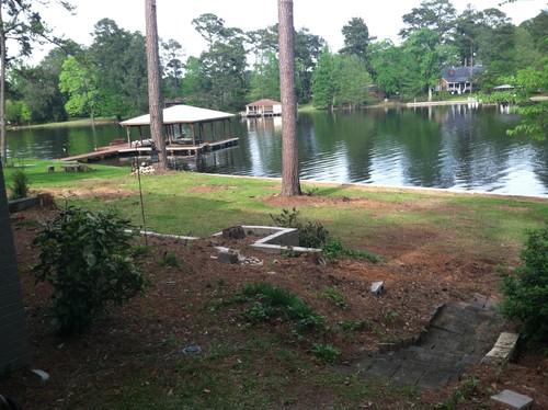 backyard slope lake budget