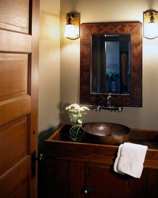 Rustic Homestead  Rustic  Powder Room  Omaha  by Curt