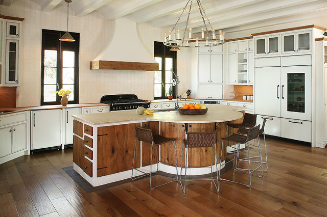 Mixed Kitchen Cabinets Kitchen Cabinets - Mixed Styles Of Stained Wood And Modern