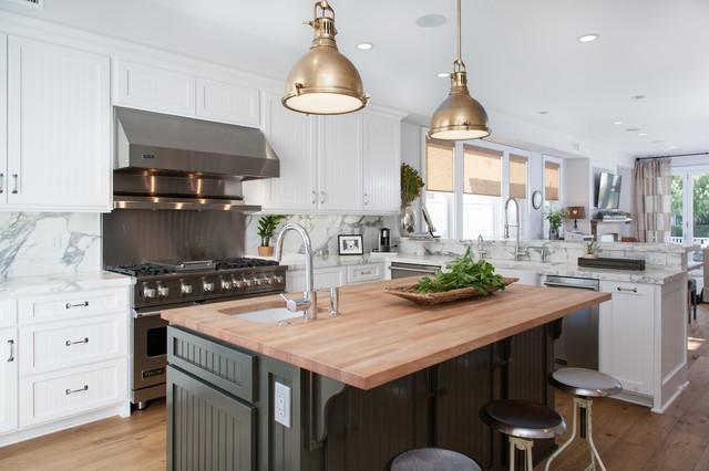 California Cape Cod  Beach Style  Kitchen  Orange County  by Built Custom Homes LLC