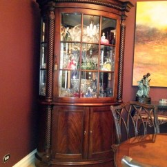 Mahogany Side Tables Living Room Lighting Options For My China Cabinets - Traditional Dining Atlanta