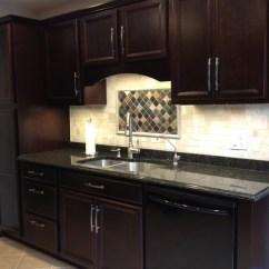 Shenandoah Kitchen Cabinets Table And Corner Bench Breckenridge Cherry Java