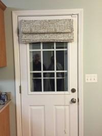 Back door in kitchen