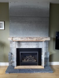 'right' fireplace mantle height
