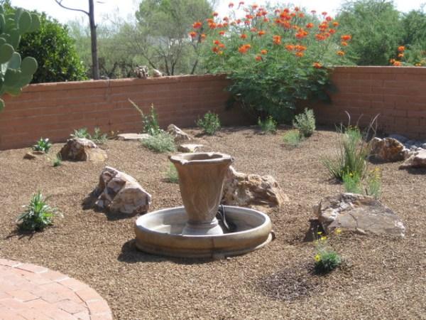simple easy care backyard - southwestern