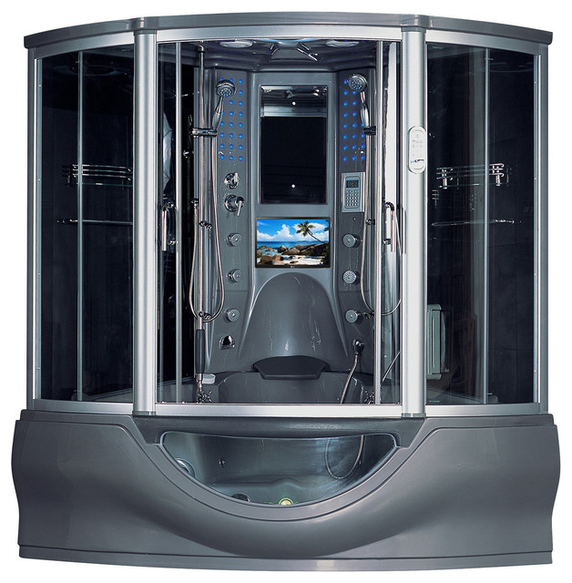 The Superior Steam Shower Sauna With Jacuzzi Whirlpool ...