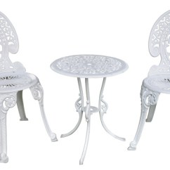 Fingerhut Kitchen Polished Brass Faucets Angel White Garden Bistro Set, Table And Two Chairs For ...