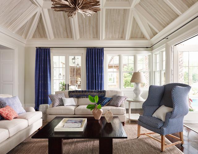 Shingle Style  Beach Style  Living Room  Jacksonville  by Andrew Howard Interior Design