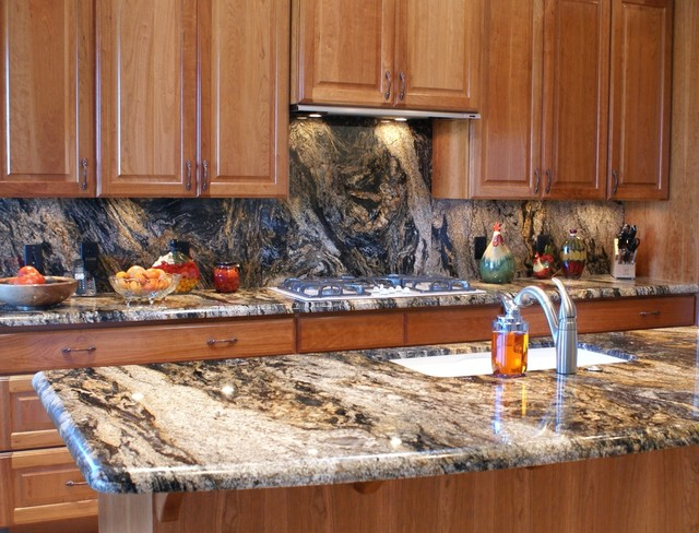Volcano Granite Countertops 3cm  Traditional  Kitchen