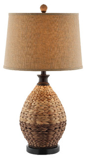 Weston 1-Light Table Lamp, Rattan