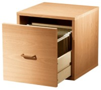 Single File Drawer Cube, Honey - Contemporary - Filing ...