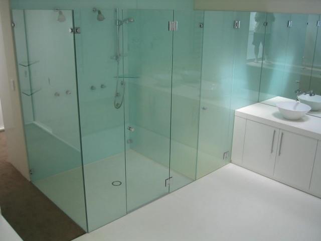 Frameless Shower Door And Partition Modern Bathroom