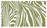 Zebra Stripes Wall Decal, , - Contemporary - Wall Decals ...