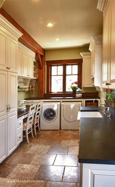 Elegant Timberframe  Traditional  Laundry Room  salt