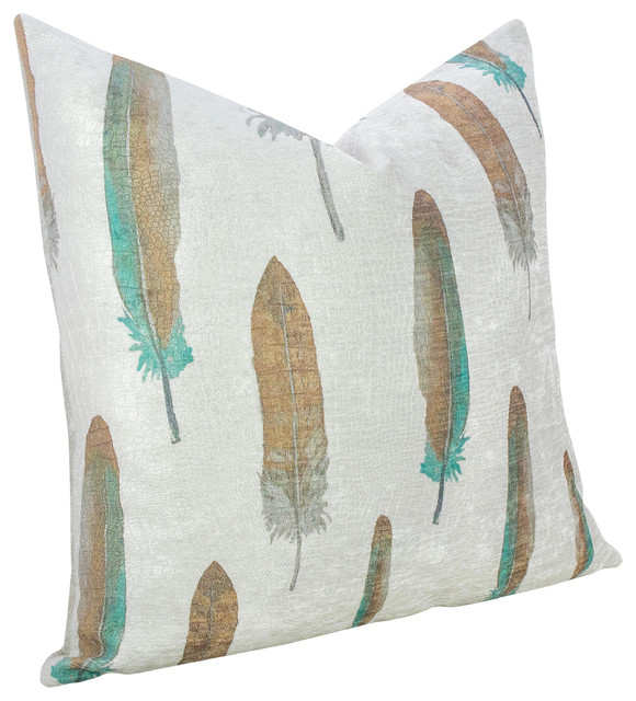 Feather Throw Pillow  Modern  Decorative Pillows  by