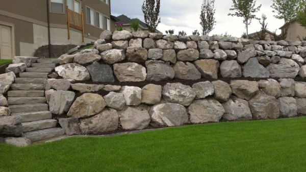 rock wall installations - traditional