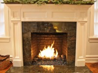 Gas Burner with Glass and Rock Media - Contemporary ...
